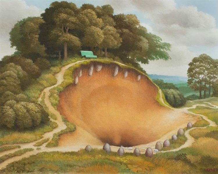 The Hungry Hill, c.2015 - Jacek Yerka
