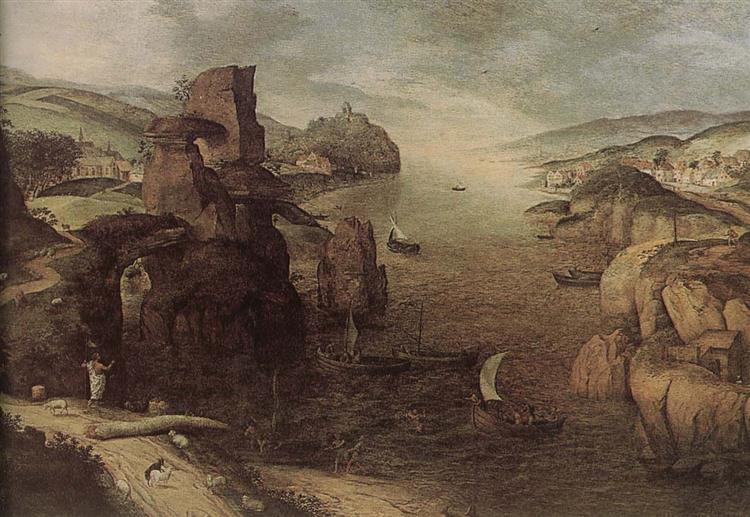 Landscape with Christ Appearing to the Apostles at the Sea of Tiberias, 1553 - Pieter Bruegel the Elder