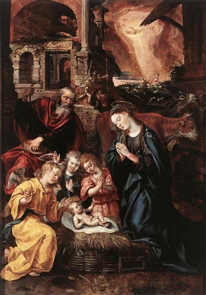 Nativity, 1577 - Maarten de Vos
