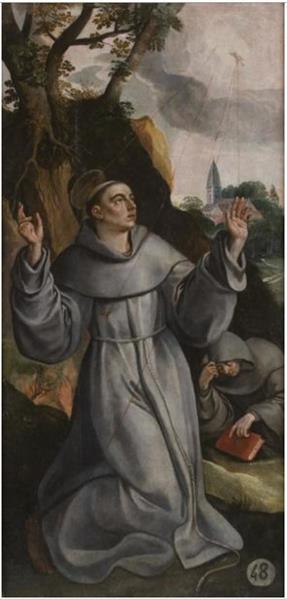 Stigmatisation of Francis of Assisi, 1570 - Мартин де Вос