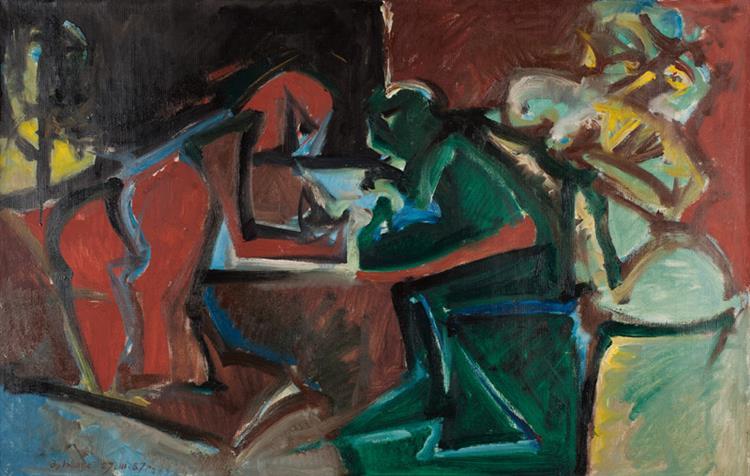 Игра. 1987. Х., М., 65х100 См., 1987 - Владимир Лобода