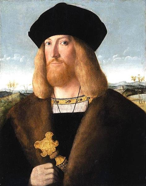 Portrait of a Bearded Gentleman, 1510 - Бартоломео Венето