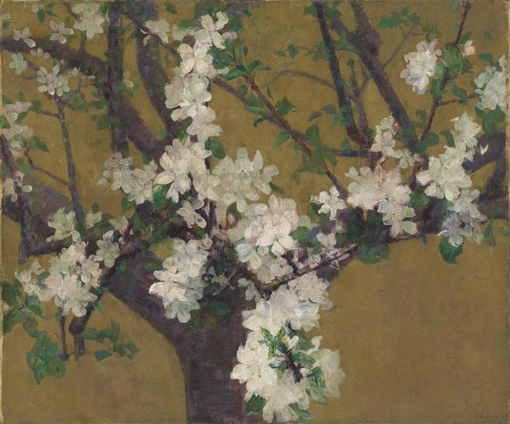 Almond tree in blossom, c.1887 - John Peter Russell