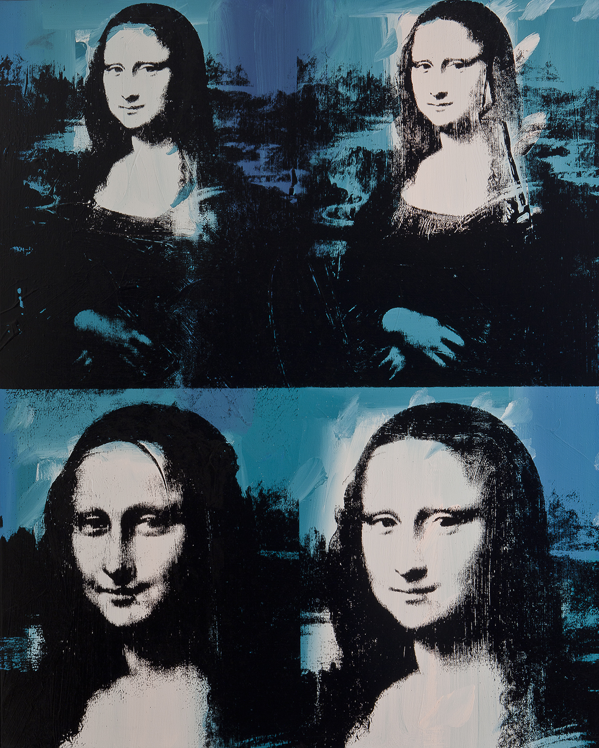 Extrem Mona Lisa Four Times, 1978 - Andy Warhol - WikiArt.org RY59