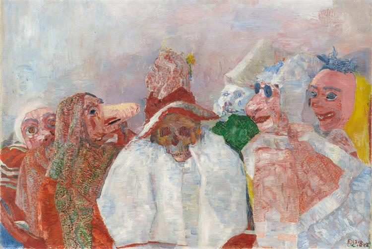 Masks Mocking Death, 1888 - James Ensor