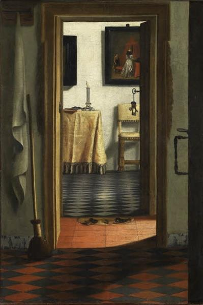 View of An Interior (also Known as The Slippers), 1658 - Samuel van Hoogstraten