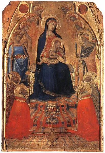 Small Maestà - Ambrogio Lorenzetti