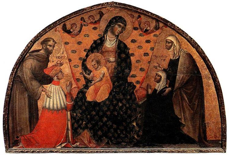 Doge Francesco Dandolo and His Wife Presented to the Madonna, 1339 - Paolo Veneziano