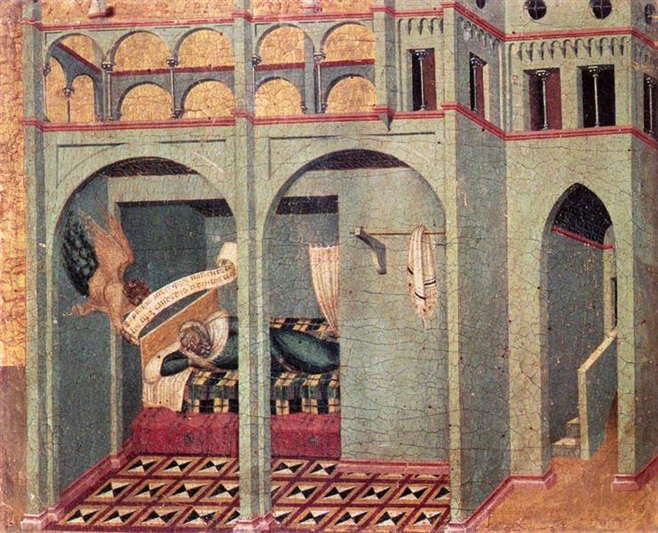 Predella Panel. The Annunciation to Sobac, 1329 - Pietro Lorenzetti