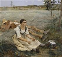 Hay Making - Jules Bastien-Lepage