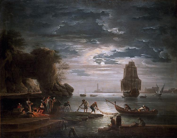 La nuit, c.1750 - Claude-Joseph Vernet