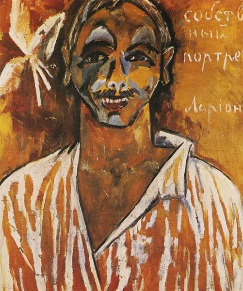 Self Portrait, 1910 - Michail Fjodorowitsch Larionow