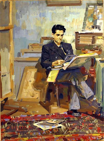 Portrait of the Artist Konstantin Zaruba, 1947 - Sergiy Grigoriev