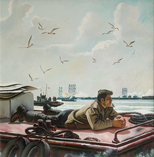 Morning in the Caspian Sea, 1986 - Tahir Salahov
