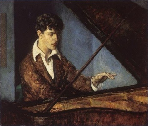 Leo Ornstein at the Piano, 1918 - Leon Kroll