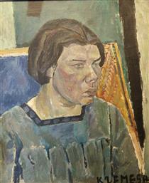 Portrait of a Woman - Pinchus Kremegne