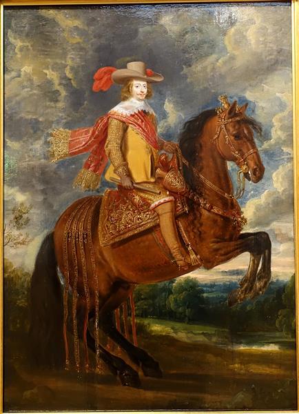 Equestrian Portrait of Cardinal Infante Ferdinand of Austria - Adam van der Meulen