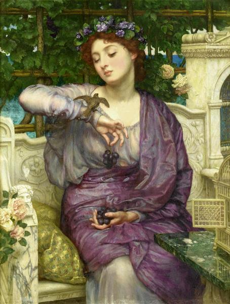 Lesbia and Her Sparrow - Edward Poynter
