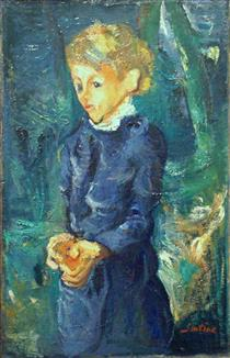 Girl in Blue - Chaim Soutine