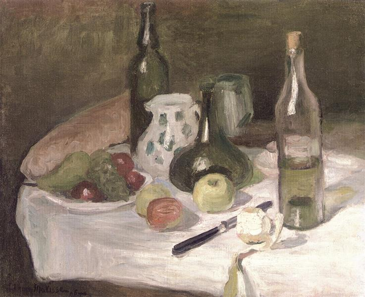 Still LIfe with Fruit and Bottles - Henri Matisse