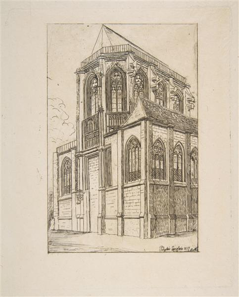 the Apse of the Church of St. Martin-sur-renelle, 1860 - Charles Meryon