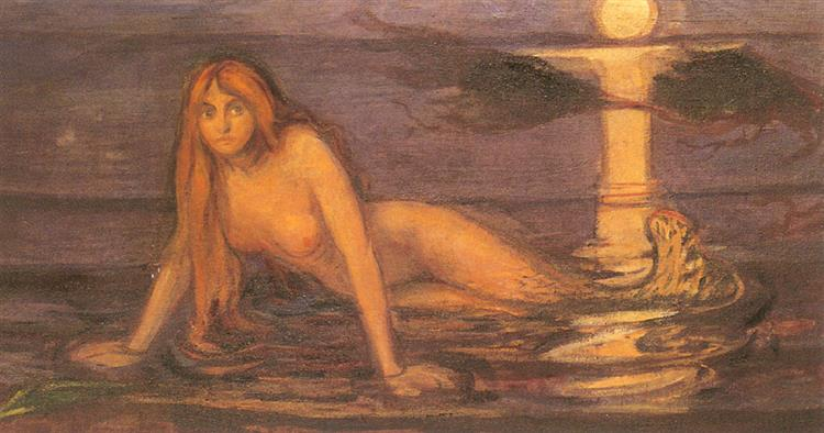 Lady from the sea, 1896 - Edvard Munch