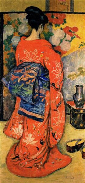 Japanese Woman with a Fan, 1908 - Józef Pankiewicz