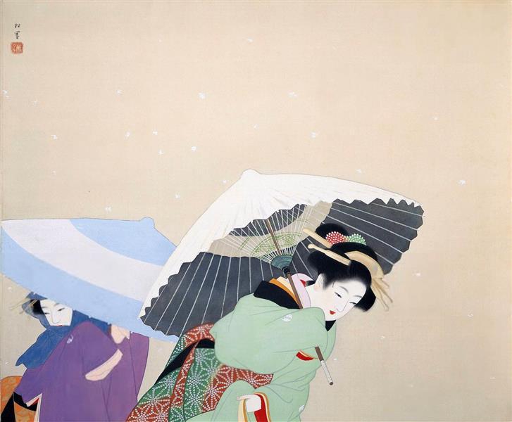 Large Snowflakes, 1944 - Uemura Shoen