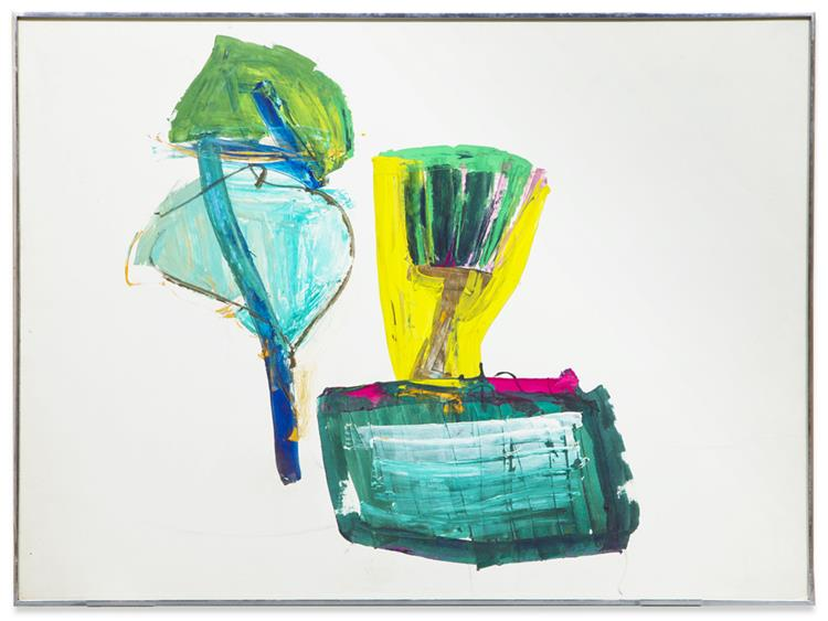 Untitled (ABC with Yellow and Green) - John Altoon