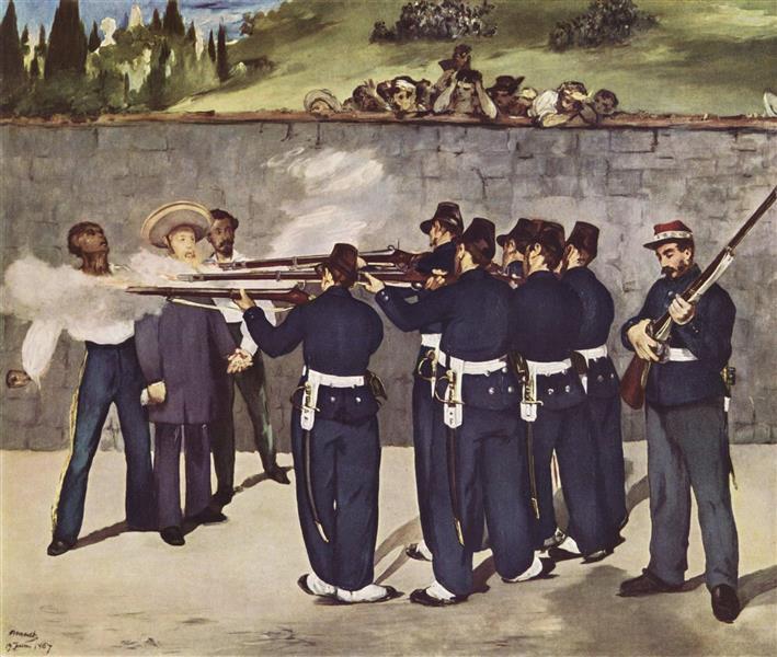 The Execution of the Emperor Maximilian of Mexico, 1868 - Edouard Manet