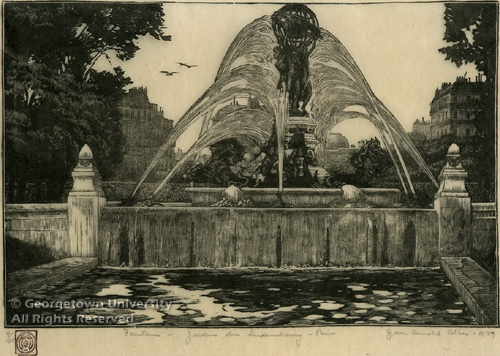 Fountain - Jardin du Luxembourg, Paris, 1929 - Grace Albee