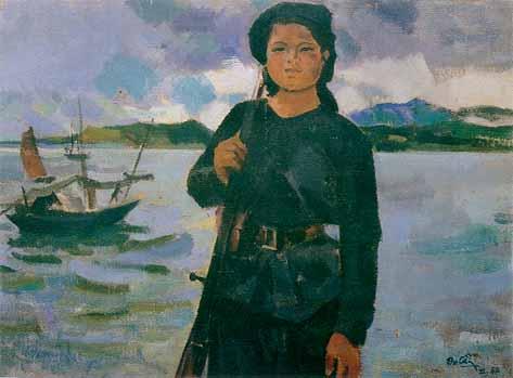 Female Militia in the Sea 1960 - Tran Van Can