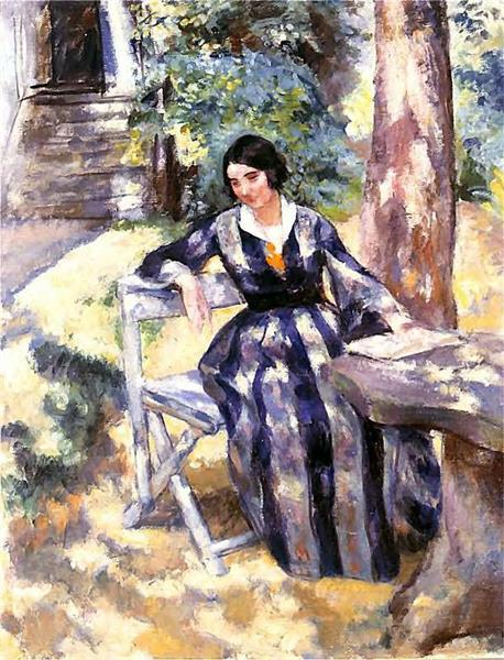 Artist's Wife in the Garden - Wojciech Weiss
