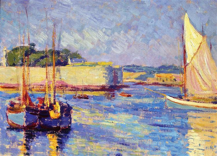 Port of Concarneu, 1908 - Józef Pankiewicz