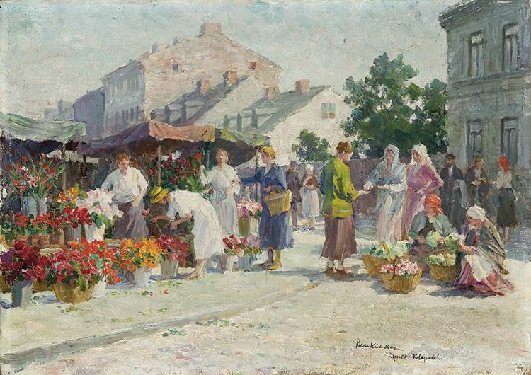 Rynek Kleparski W Krakowie, 1930 - Józef Pankiewicz