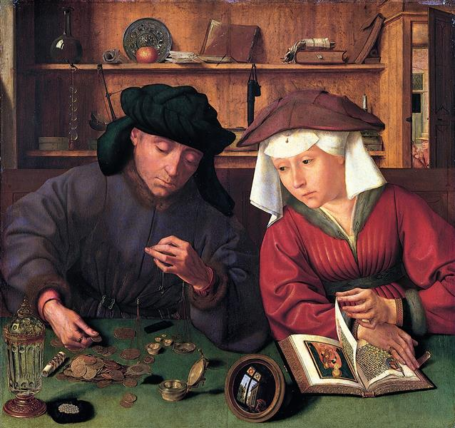 The Moneylender and His Wife - Quentin Massys