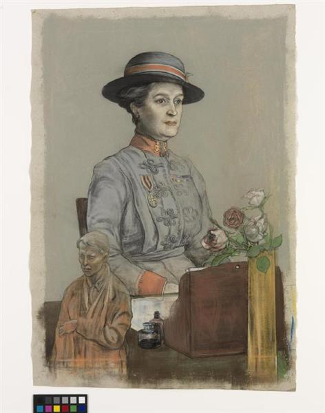 Dame Maud Mccarthy Gbe Rrc- the Matron-in-chief in France of Queen Alexandra's Imperial Military Nursing Service - Austin Osman Spare