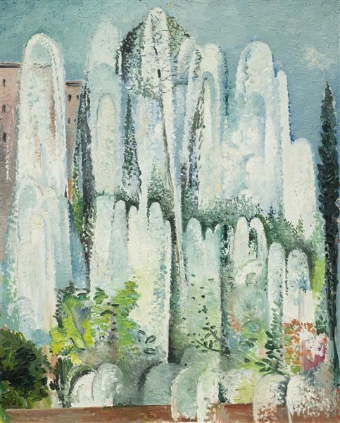 Fontaine Dans Un Jardin De Rome, 1934 - Alice Bailly