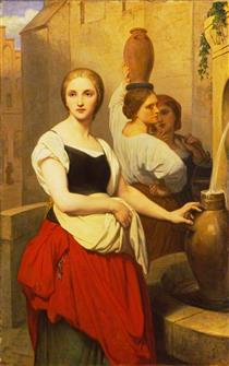 Margaret at the Fountain - Ary Scheffer
