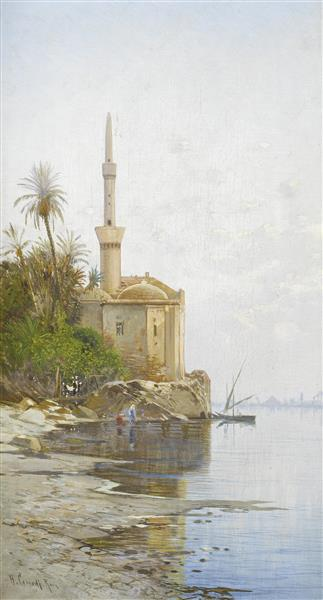 On the Banks of the Nile, 1905 - Hermann David Salomon Corrodi