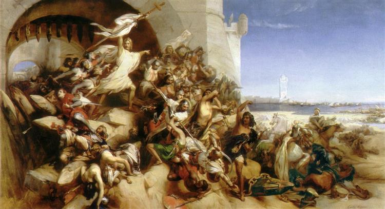 The Defence of Rhodes by the Knights of St John of Jerusalem, 1844 - Gustaf Wappers