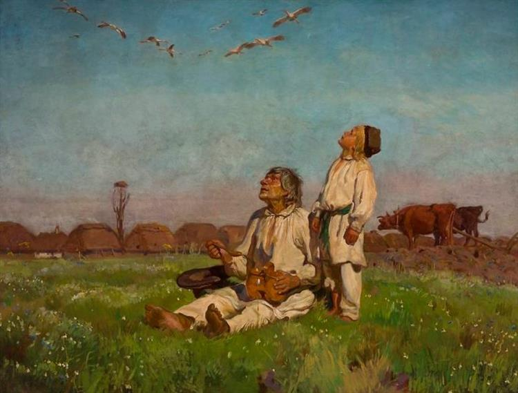 Storks, 1900 - Józef Chełmoński