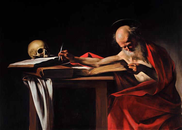 Saint Jerome Writing, c.1605 - Michelangelo Merisi da Caravaggio
