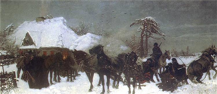 Zjazd Na Polowanie, 1873 - Józef Chełmoński