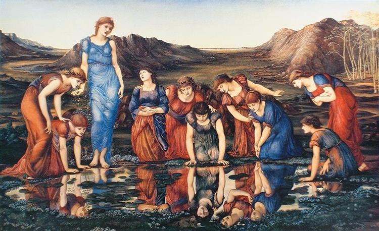 The Mirror of Venus, c.1870 - c.1875 - Edward Burne-Jones