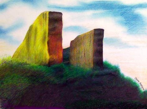 Coldrum Stones Close up by Johnbaroque, 2000 - John-Baroque