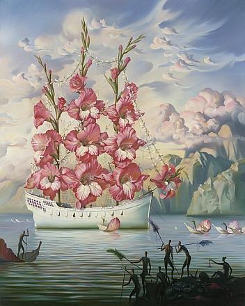 Arrival of the flower ship - Vladimir Kush