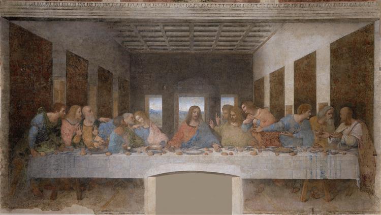 Тайна вечеря, 1495 - Леонардо да Вінчі