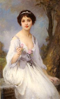 The Pink Rose - Charles-Amable Lenoir