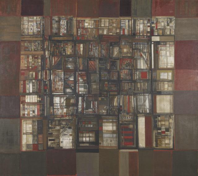 A biblioteca em fogo, 1974 - Maria Helena Vieira da Silva